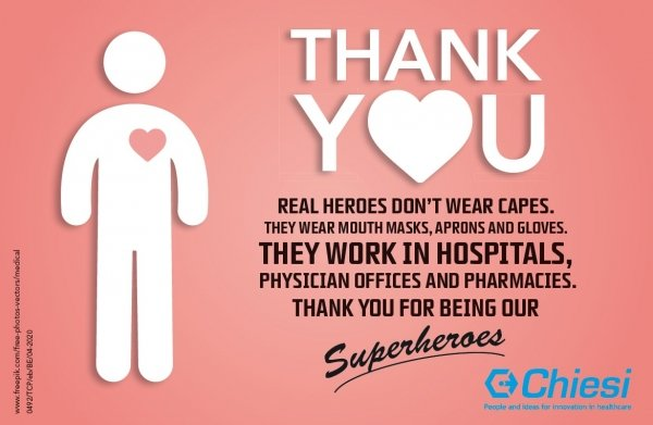 Thanks to healthcare professionals